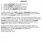 ESL Practice Questions - Past Tense - Arctic Balloon Expedition - 1